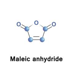 Maleic anhydride molecule vector