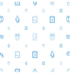 Management icons pattern seamless white background vector