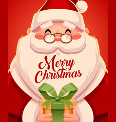 Merry christmas greeting cards retro design santa vector