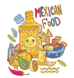 Mexico food collection vector