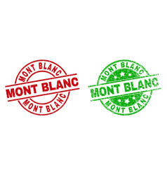 Mont blanc round stamp seals with unclean texture vector