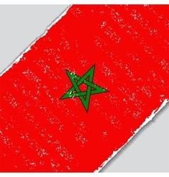 Moroccan grunge flag vector