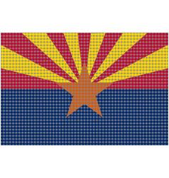 Mosaic flag of arizona vector