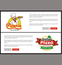 pizzeria and italian pizza vector image