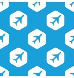 Plane hexagon pattern vector image