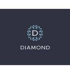 Premium monogram letter D initials logo Universal vector