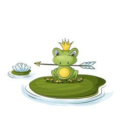 Princess frog vector