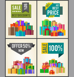 sale best discounts super prices offer 50 now vector image