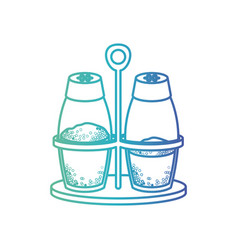 salt and pepper containers silhouette gradient vector image