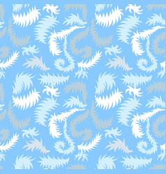 Seamless winter pattern with frozen curls vector