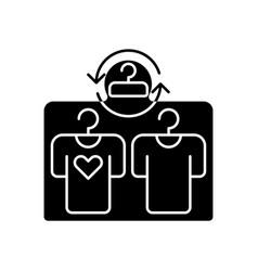Second hand shop black glyph icon vector