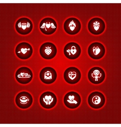 set valentines day icons symbols vector image