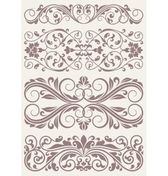 Set vintage ornate borders vector image