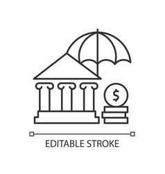 Social insurance linear icon vector