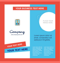 social media user profile company brochure vector image