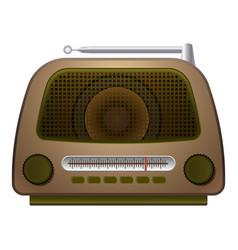 Speaker radio icon cartoon style vector