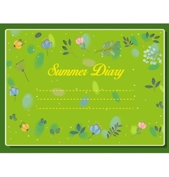 Summer diary Vintage floral card vector image