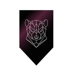 tasmanian devil polygonal head sign vector image