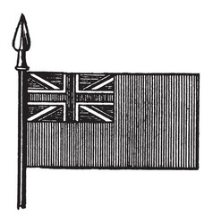 The red ensign is the flag of the british vector