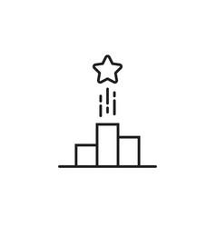 thin line black logo like simple star up vector image