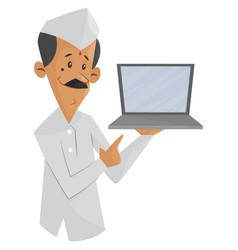 tiffin service man vector image