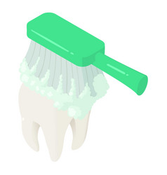 toothbrush clean tooth icon isometric style vector image