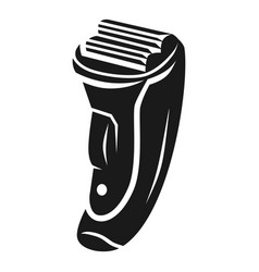 Two headed rechargeable shaver icon simple style vector