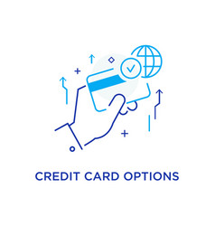 Unlimited credit card options workflow growth vector