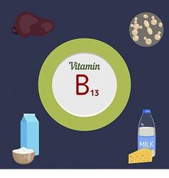 Vitamin b13 infographic vector