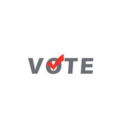 Voting elect symbol in flat checkmark right vector