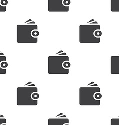 wallet seamless pattern vector image