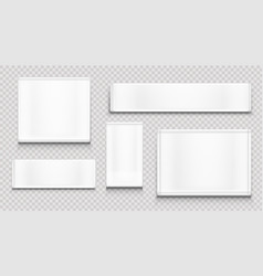 White fabric tags cloth labels different shapes vector