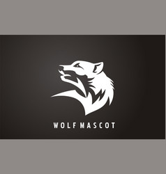 wilderness wolf sign vector image