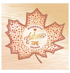 Wooden Autumn banner vector image