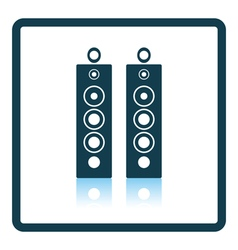 Audio system speakers icon vector image vector image