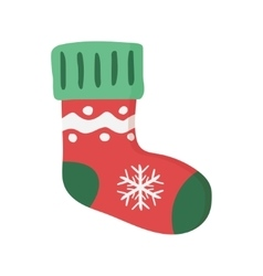 Christmas sock Isolated vector image vector image