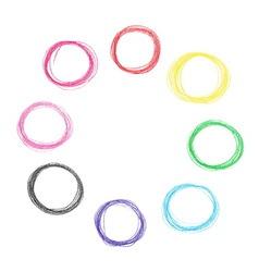Colorful pencil circles set vector image vector image