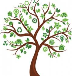 environmental icons tree vector image vector image