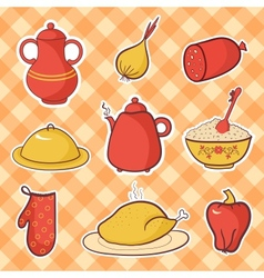kitchen food vector image vector image