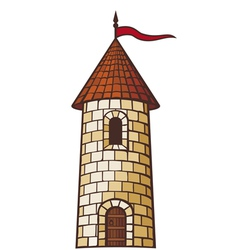 Medieval tower vector