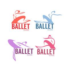 silhouette of beauty ballet dancer logo vector image