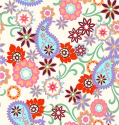 abstract paisley seamless background vector image