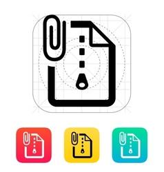 Attached archive file icon vector