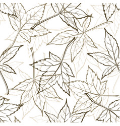 maple leaves seamles vector image