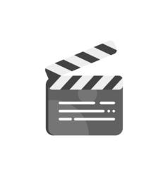 movie clapboard vector image
