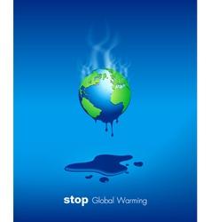 Stop global warming design vector