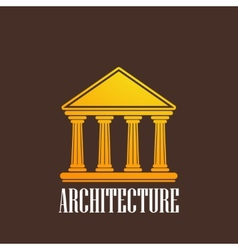 with a building icon vector image vector image