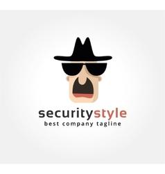 Abstract spy face logo icon concept logotype vector