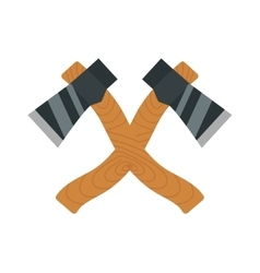 Axe logo steel isolated and sharp axe cartoon vector image