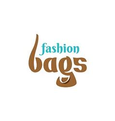 Bags shop logo template vector image